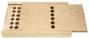 BROWN-6 - Sturdy Bushing Box With Blank Labels - Image 1