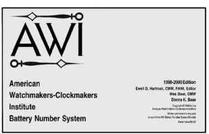 AWI-87 - AWI Battery Cross Reference Book - Image 1