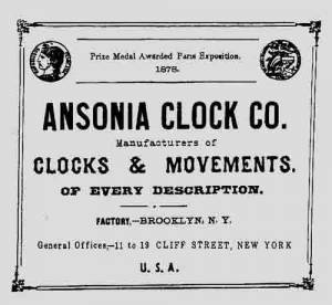 BEDCO-29 - Ansonia Clock Company Label - Image 1