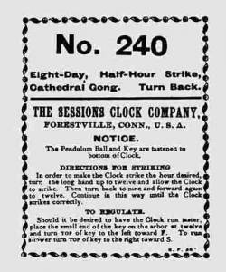 BEDCO-29 - Sessions Clock Co. Clock Label - Image 1