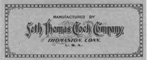 BEDCO-29 - Seth Thomas Clock Company Label