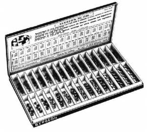 BERGEON-6 - Bergeon 225-Piece Brass Bushing Assortment (#1 Thru#30)