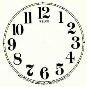 "BEDCO-12 - 2-1/2"" Arabic Plain White Dial"