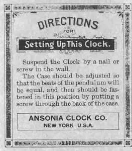 BEDCO-29 - Ansonia Clock Company Clock Label