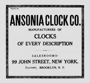 BEDCO-29 - Ansonia Clock Company Label