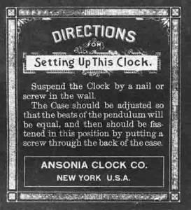 BEDCO-29 - Ansonia Clock Company Clock Label - Image 1