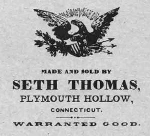 BEDCO-29 - Seth Thomas Clock Company Label - Image 1