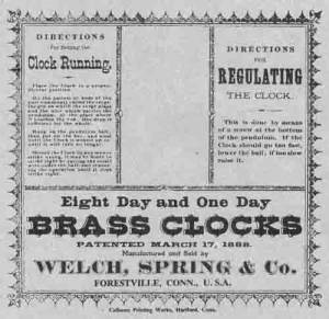 BEDCO-29 - Welch, Spring & Company Clock Label