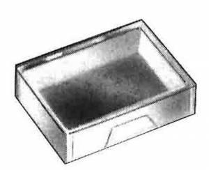 "CAMBR-96 - 1-3/4"" x 1-3/8"" x 1/2"" Plastic Storage Box - Image 1"