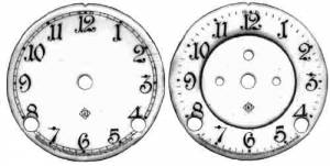 CHINA-12 - Ansonia 1 Piece Porcelain Arabic Dial