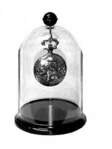 "CLASSICS-85 - Acrylic Watch Display Dome With Base 4"" X 5-1/2"" - Image 1"