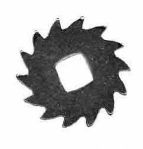 HERMLE-32 - Hermle Nickeled Ratchet Wheel  14 Teeth - Image 1