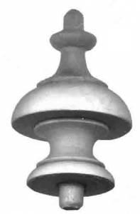 """MERRITT-11 - Wood Finial 1-5/8"""" x 2-1/8"""" - Image 1"""