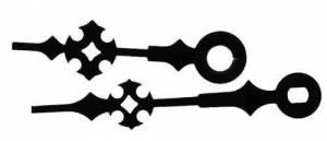 """PRIMEX-17 - Black Maltese I-Shaft Hands 2-1/8"""" Minute Hand - Image 1"""