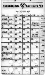 RUELLE-93 - Plastic Screw Thread Checker-Inch - Image 1