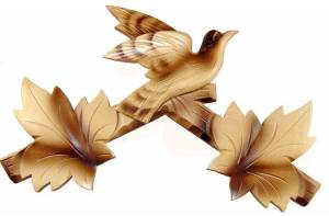 "SCHWAB-14 - Cuckoo Clock Top 8-1/4"" Blonde - Image 1"