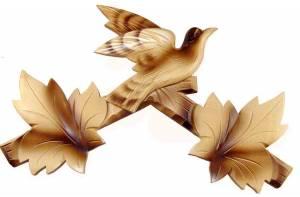 "SCHWAB-14 - Cuckoo Clock Top 11-1/2"" Blonde - Image 1"