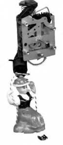 SCHWAB-21 - German Bouncing Doll Clock Movement - Image 1