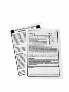 SPEC-82 - Setting Up & Regulating A Pendulum Clock Poster - Image 1