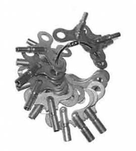TS-19 - Brass Single End Clock Key 15-Piece Assortment - American Sizes - Image 1