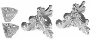 TT-11 - Mantel Clock Cast Feet - 4 Pieces - Image 1