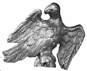 "TT-11 - 3-5/8"" Cast Brass Finish Eagle"