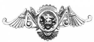 """TT-11 - 5"""" Head/Wing Plaque Ornament - Cast - Image 1"""