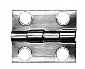 """TT-11 - Door Hinge 3/4"""" W x 5/8"""" H - Brass - Image 1"""