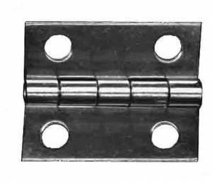 """TT-11 - Door Hinge 1""""H x 3/4"""" W - Brass - Image 1"""