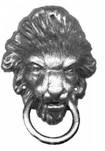 TT-11 - Lion Heads - Pair  2-5/8""