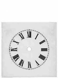"TT-12 - 6-3/4"" Square Steel Roman Dial - 5"" Time Track - Image 1"