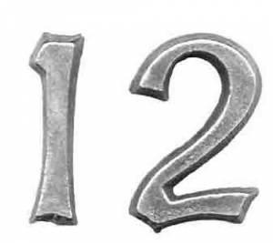 TT-12 - Mission Clock Cast Arabic Numeral Set