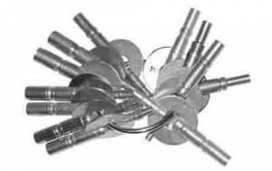 TT-19 - Brass Carriage Clock Key 11-Piece Assortment - Image 1