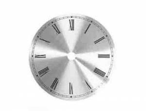 "VO-12 - 7-13/16"" Brass Roman Round Metal Dial"