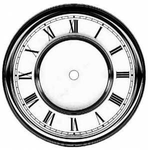 """Timesaver - 6-1/4"""" R & A Roman Dial - Image 1"""