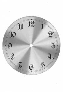 "Timesaver - 175mm (6-7/8"") Brass Finished Aluminum Arabic Box Clock Dial - Image 1"