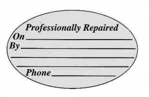 "Timesaver - ""Repaired By"" Labels  5 Per Sheet - Image 1"