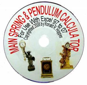 Mainspring & Pendulum Calculator Program-Version 2 - Image 1