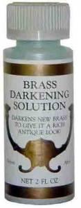 Brass Darkening Solution  2 Ounce