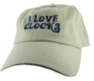 I Love Clocks Hat - Khaki - Image 1