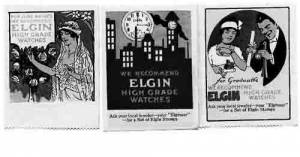 Elgin Poster Stamp Set