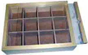 12-Compartment Wood Storage Box