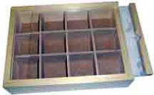 12-Compartment Wood Storage Box