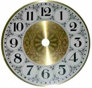 "4-1/2"" Fancy Aluminum Arabic Dial - Image 1"