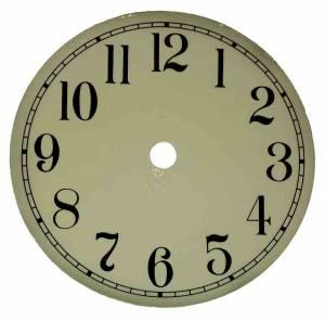 "7-13/16"" Ivory Aluminum Arabic Dial"