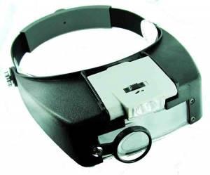 Illuminated Magnifier Head Set
