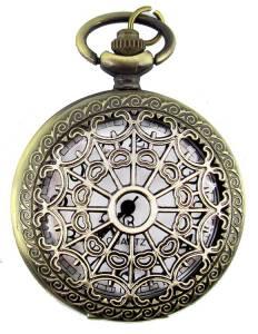 Pendant Watch - Antique Gold Hearts