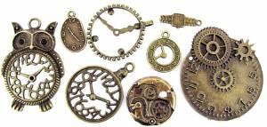 8-piece Bronzed Key CharmAssortment
