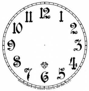 "BEDCO-12 - 4-1/2"" Ansonia Arabic White Dial"