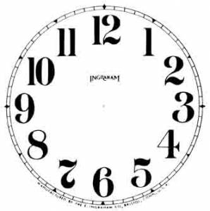 "BEDCO-12 - 4-1/2"" Ingraham Arabic White Dial"